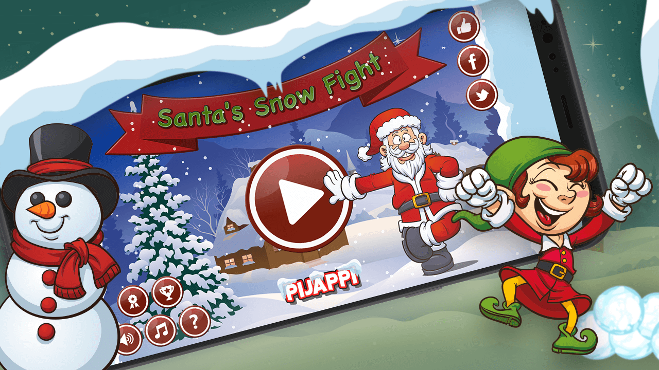 Santa's Snow Fight screenshot 1